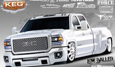 Low Baller bagged GMC HD3500 Dually