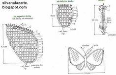 CROCHE GRAFICOS E RECEITAS: BORBOLETAS
