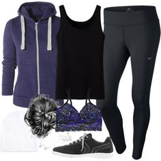 """""""Allison Inspired Fall/Winter Work Out Outfit"""" by veterization on Polyvore"""