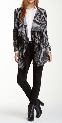 Romeo & Juliet Couture ~ Flyaway Fringe Cardigan ~ You Can Do It 2. http://www.zazzle.com/posters?rf=238594074174686702