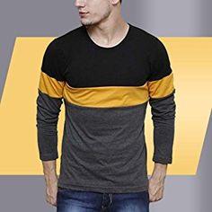 f48c354fea2 Urbano Fashion Men s Striped Slim Fit T-Shirt (Cns-RND-blayel-