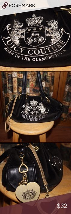 ✨ Juicy Couture ✨ Purse Super cute Juicy purse. Has the adorable terriers on the front- has heart mirror attached and multiple pockets. There is a magnet at the top that keeps purse closed. I received as a gift, and just don't use it. In good condition. Juicy Couture Bags