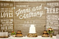 Fresh Dessert Table Inspiration | SouthBound Bride Love, Love these sayings on background