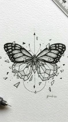 butterfly tattoo meaning ; butterfly tattoo behind ear ; butterfly tattoo on foot Monarch Butterfly Tattoo, Simple Butterfly Tattoo, Butterfly Tattoo Meaning, Butterfly Drawing, Butterfly Tattoo Designs, Drawings Of Butterflies, Vintage Butterfly Tattoo, Geometric Tattoo Butterfly, Butterfly Stencil