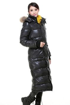 Women fur collar overknee long detachable hooded thicken down jacket coat parka #other #Parka $154