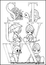 Coloring Pages - Precious Moments set 4 (get all the letters there) copic, printables