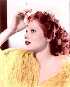 Lucille Ball - Probably one of the world's most famous redhead's! I met her too and got her autograph :) xo