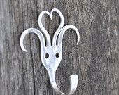 I Love Forking Silver Fork Hook Mini for Keys