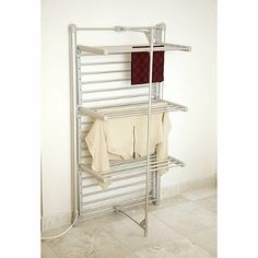 Dry-Soon 3-Tier Heated Tower Airer (lakeland) £93.00  Could be good in the cupboard by the rear door, as an airing cupboard.