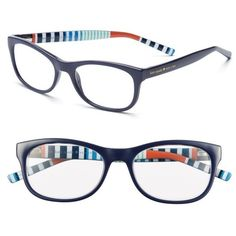Women's Kate Spade New York Letti 51Mm Reading Glasses (1,255 MXN) ❤ liked on Polyvore featuring accessories, eyewear, eyeglasses, navy stripe, navy blue glasses, kate spade eyeglasses, kate spade, kate spade glasses and reading eye glasses