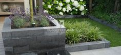 Afbeeldingsresultaat voor u element Tiered Planter, Garden Ornaments, Raised Garden Beds, Flower Beds, Garden Inspiration, Garden Ideas, Water Features, Outdoor Living, Garden Design