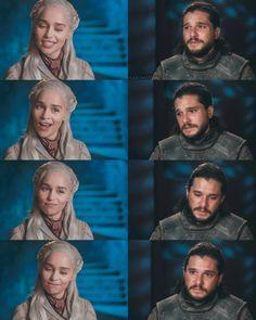 Emilia Clarke & Jon Harintong – winter is coming Kit And Emilia, The Winds Of Winter, Emilia Clarke Daenerys Targaryen, Bronn, Kit Harrington, I Love Games, Winter Is Coming, Arya, Game Of Thrones
