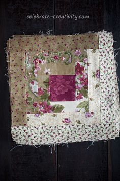 Log Cabin Quilting - Lights and darks Quilt block stack.