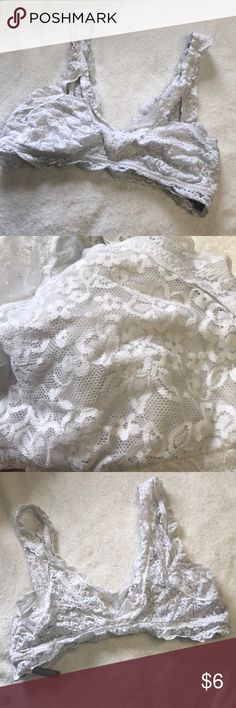 White lace bralette Good condition! Worn quite a few times. Please make an offer! aerie Intimates & Sleepwear Bras