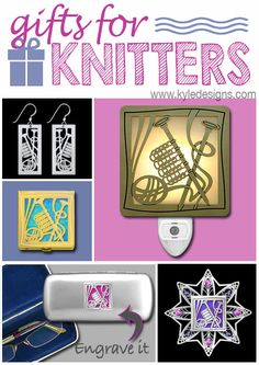 Unique Gifts for Knitters - Engraved Knitting Gifts