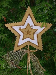 Christmas Paper Craft - Christmas Star Plant Stick