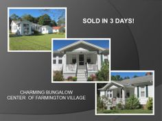SOLD in 3 days! We just CLOSED on charming bungalow in Farmington! Congratulations and best wishes to my buyer, Sandra, and her family. Thank you!!! You're pleasure to work with. www.TatyanaMakarov.com  www.WeNeedANewHouse.com