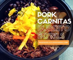 Need a quick, easy weeknight dinner? Try these Pork Carnitas Burrito Bowls using our salt free Slowcooker Spice Blends. Just add brown rice and your favorite veggies and salsa to build your best burrito bowl! Check out all of our spice blends and yummy side dishes at shopgarlicclovefoods.com