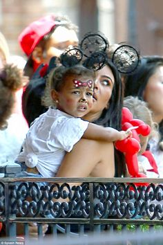 North West had the kutest face paint in Disney!