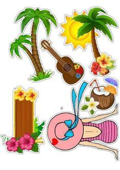 Tiki Hawaii, Lol Doll Cake, Fondant Animals, Lol Dolls, How To Make Cake, Scrapbooks, Tweety, Cake Toppers, Tropical