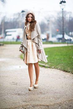 Gabriela Atanasova  Paris Fashion Week Fall 2013 Street Style - Paris Street Style Pictures PFW - ELLE