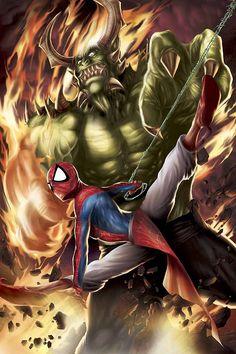 #Spiderman #Fan #Art. (Spider-Man India Vol.1 #4 Cover) By: Jeevan Kang. (THE * 5 * STÅR * ÅWARD * OF: * AW YEAH, IT'S MAJOR ÅWESOMENESS!!!™)[THANK Ü 4 PINNING<·><]<©>