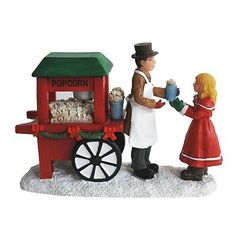 St. Nicholas Square Village Collection Popcorn Cart