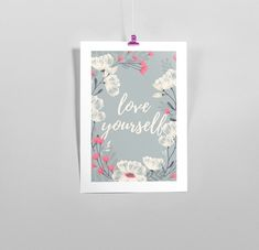 Póster Love Yourself Frases positivas frases motivadoras   Etsy Love You, Etsy, Unique Gifts, Positive Quotes, Motivational Quotes, Hand Made, Te Amo, Je T'aime, I Love You