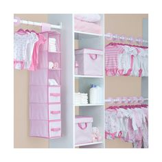 Delta 48-Piece Nursery Storage Set, Barely Pink ($30) ❤ liked on Polyvore