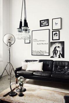 paredes decoradas en blanco y negro | Estilo Escandinavo