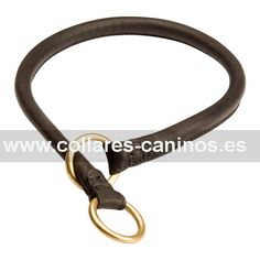 Collar de ahorque para adiestramiento de perros desobedientes Cane Corso hecho a mano de cuero natural - C96 (10 mm)