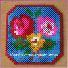 Flowers frame hama beads by Emar ❀