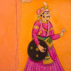 #India #Jodhpur #wallpainting by jessicavwalsh