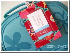 Farbstoff: Tutorial for fabric luggage tags