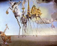 Искушение святого Антония. Автор: Сальвадор Дали Выставлена в музее: Бельгийский Королевский музей изящных искусств (Брюссель)Год: 1946
