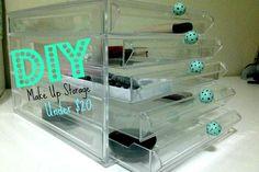 DIY Make Up Storage under $20