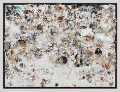 Recipe For A Painter: Michael Chow Aka Zhou Yinghua ~O-O~  Vertical Lips (2013)  Mixed media: household paint with precious metals and trash  183 x 243.8 cm (72 x 96 in.)