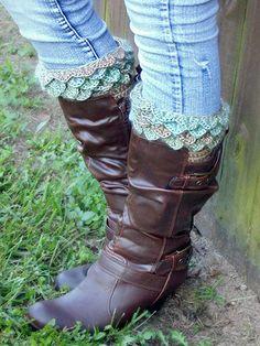 Crocodile Stitch Boot Cuffs