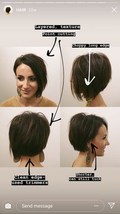 Short Bob Thin Hair, Short Angled Bobs, Short Hair Cuts, Short Hair Styles, Plaits Hairstyles, Short Bob Hairstyles, Cool Hairstyles, Growing Out Hair, Corte Y Color