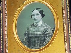 6th Plate Daguerreotype of a very pretty lady Nice case with restored spine | eBay