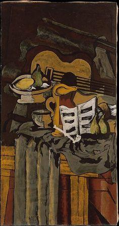 Georges Braque, Natura morta con una chitarra, 1924.