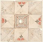 Circa 1800. Fractur. Love letter. unfolded. See other pins for diff views.