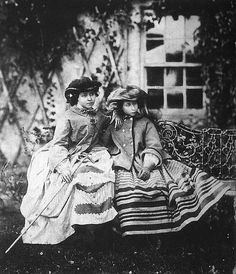 Their Royal Highnesses Victoria, Princess Royal (1840-1901) and Princess Alice (1843-1878) of Great Britain