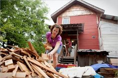 Affordable housing from recycled materials...