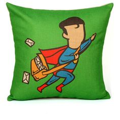 Crime is down and super heroes now have to find part time jobs. These creative comic hero cushion covers imagine what they would be doing with their spare time.