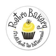 Magnet created by retrobakery. Lemon Curd Cupcakes, Bakery Decor, Bakery Ideas, Cupcake Logo, Bakery Kitchen, Retro Fridge, Best Bakery, Bakery Logo Design, Shop Logo