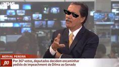 """Merval Pereira comentou a declaração da presidente afastada Dilma Rousseff, que disse que """"estaria lutando pela segunda vez contra a…"""