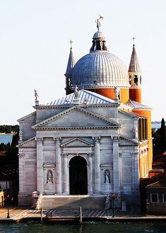 Il Redentore, Venice. Andrea Palladio, Architect. 1576-91. Renaissance Architecture, Baroque Architecture, Religious Architecture, Classical Architecture, Andrea Palladio, Traditional Landscape, Italian Renaissance, Ravenna, Bologna
