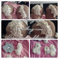 Share your wedding day bliss with a repurposed wedding dress.  Here made beautiful headbands and flower clips