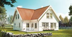 Home Fashion, Beautiful Homes, House Plans, Villa, Cottage, Construction, Patio, Inspiration, Mansions